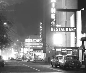 photo-chicago-rush-street-night-jim-saines-restaurant-right-the-happy-medium-center-1963