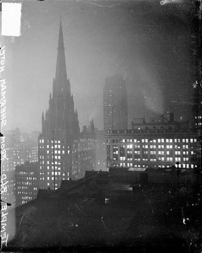 Chicago Temple spire, 1929, taken from the Sherman House Hotel - from-the-Sherman-photo CHM-DN-0088286.jpg