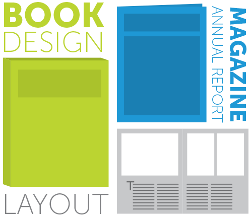 Icon of book, magazine, layout