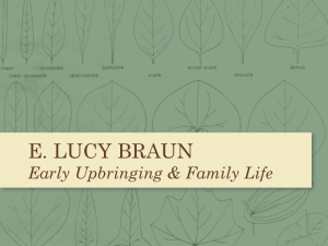 "Section opener from the PowerPoint presentation for the documentary ""A Force for Nature: Lucy Braun"""