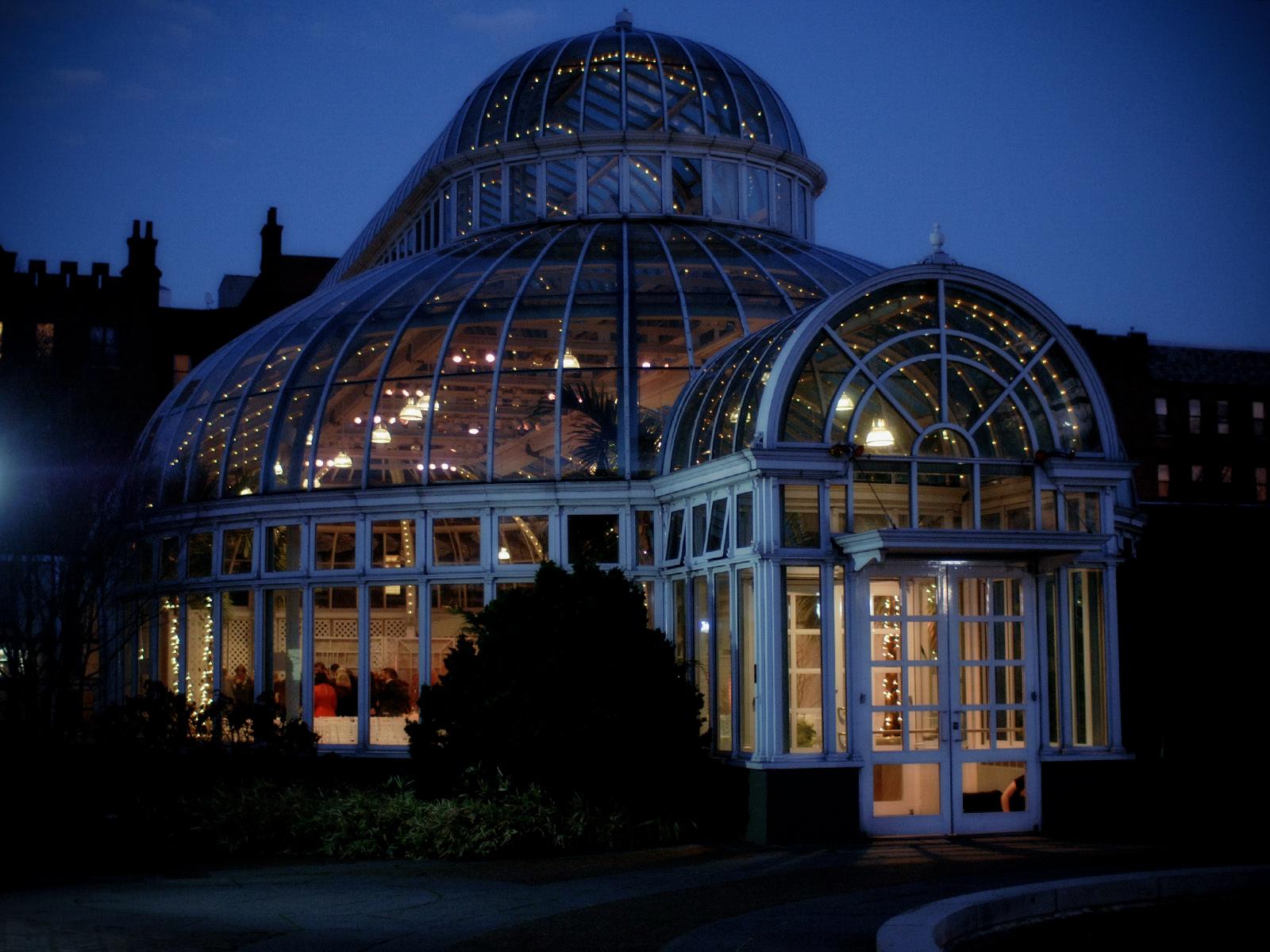 Brooklyn Botanic Garden Wedding at Night