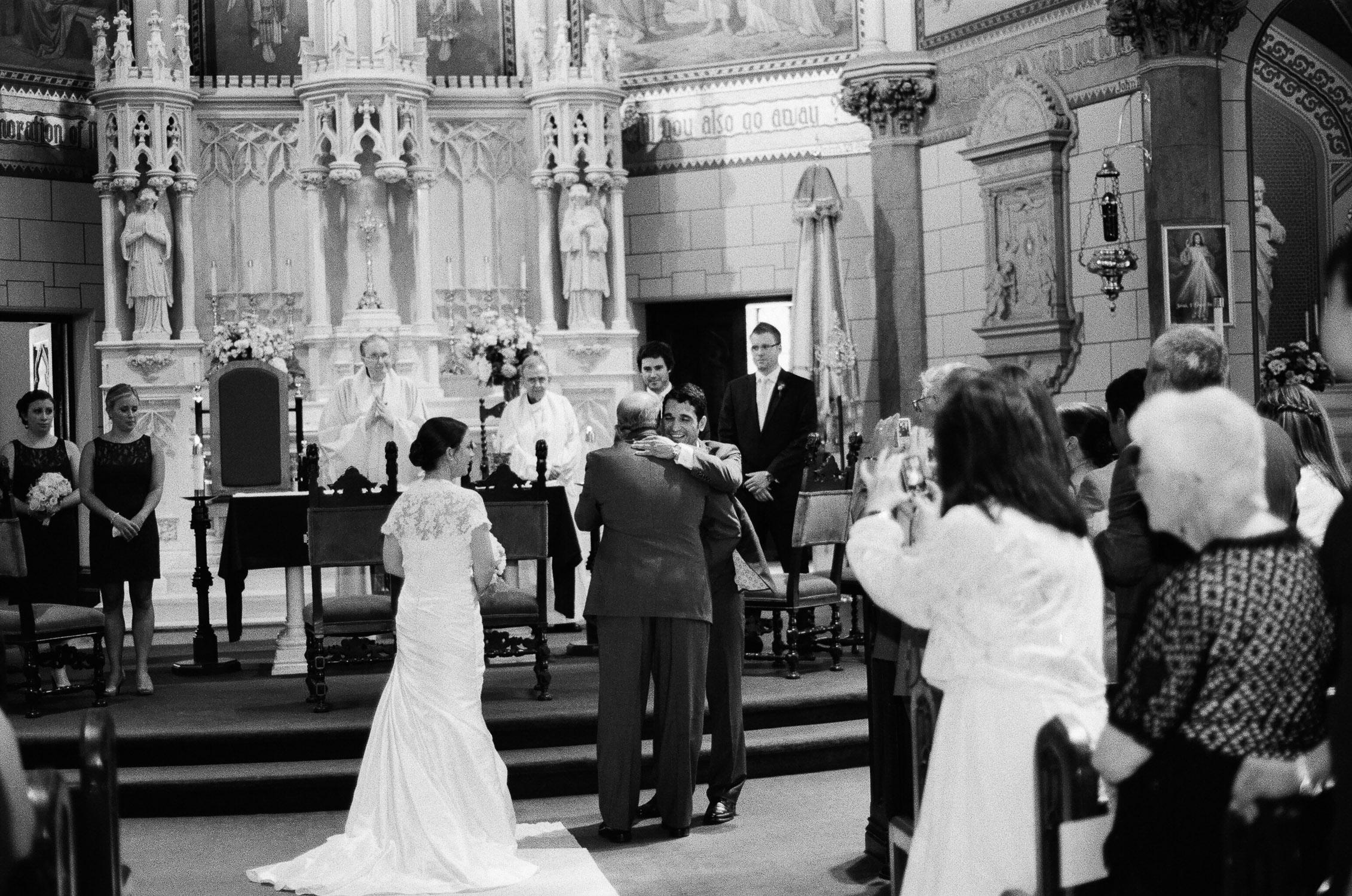 wedding ceremony at church in southampton ny