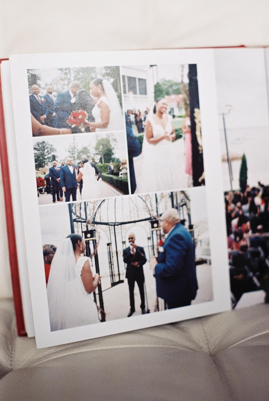 top wedding photo album by Leather Craftsmen example spread