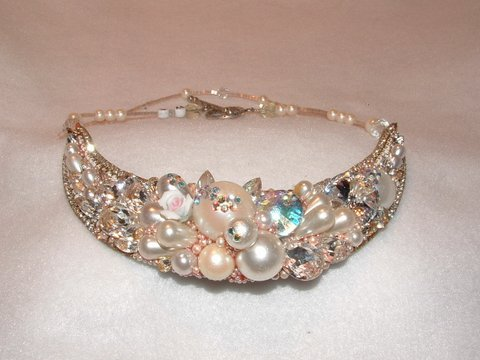 Bridal Collar by renowned Fashion Jewelry Designer Wendy Gell