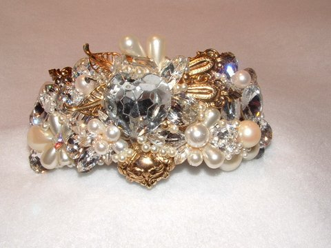 Bridal Wristy Cuff by renowned Fashion Jewelry Designer Wendy Gell