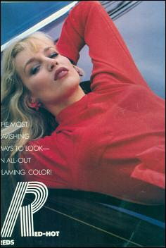 Model Jerry Hall wears Wendy Gell earrings