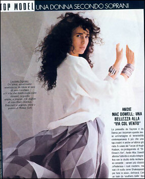 Andie MacDowell in a pair of Silver Wristies