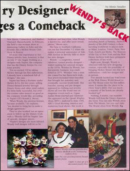 Wendy's Back! Article on Wendy Gell
