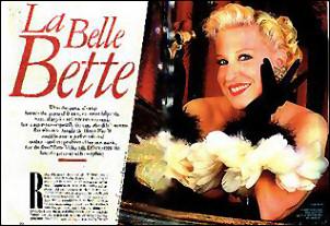 Bette Midler in Wendy Gell Jewelry in Vanity Fair.