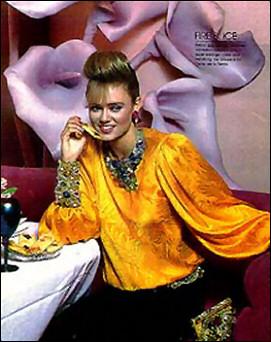 Wendy's extravagant collar and wristy pair beautifully with Oscar de la Renta, American Vogue