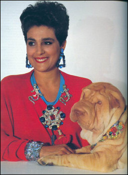 Wendy and her beloved Sharpei Zircon, circa 1988. Photo by Horst.