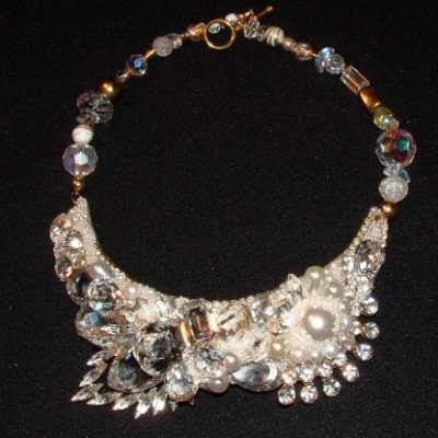 Bridal Necklace by renowned Fashion Jewelry Designer Wendy Gell