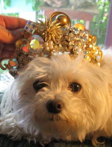 Golden Tiara by renowned Fashion Jewelry Designer Wendy Gell