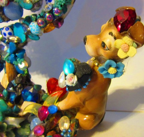 Lady and the Tramp Mirror by Wendy Gell - Tramp Detail