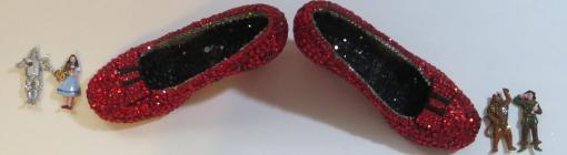 Jewely Encrusted Ruby Slippers by Wendy Gell