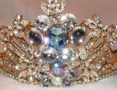 Regal Tiara by renowned Fashion Jewelry Designer Wendy Gell