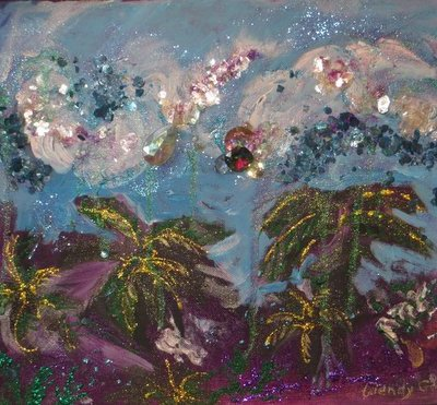 Tropical Storm, painting by Wendy Gell.