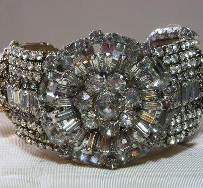 Stargate Crystal Bridal Cuff Bracelet by jewelry designer Wendy Gell