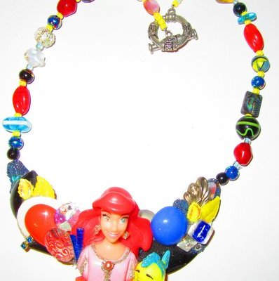 Ariel the Little Mermaid Necklace, Disney character necklace designed by Wendy Gell