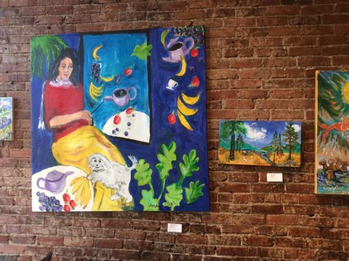 Artist in the Gravity-Free Zone and Bunnies in the Forest at Pangea, Ashland, Oregon 2015