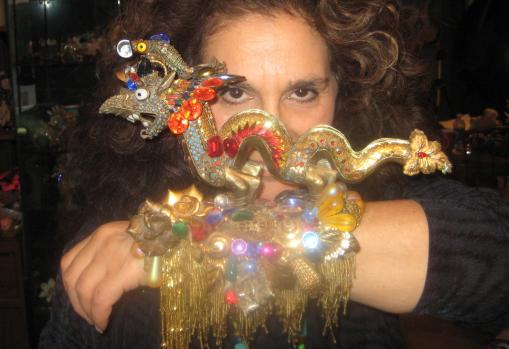 Wendy Gell GoFundMe campaign to help get her autobiography edited - Incredible Dragon Cuff rom the Museum Collection by Wendy Gell