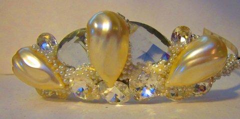Pearl Crystal Bridal Tiara by Wendy Gell