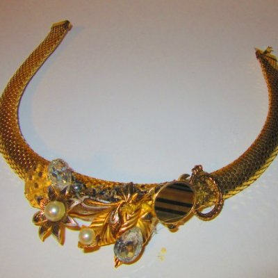 Golden Tiger Eye Turtle Necklace by jewelry designer Wendy Gell