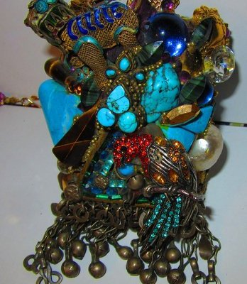 Tiger and Parrot Wristy by jewelry designer Wendy Gell
