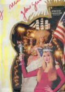 A collage with a picture of Jerry Hall in my Statue of Liberty Crown and Torch in Vanity Fair