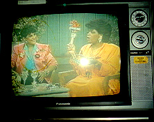 Wendy Gell on Oprah's show with her jeweled Liberty torch