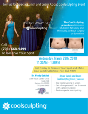 CoolSculpting event in Reston, VA