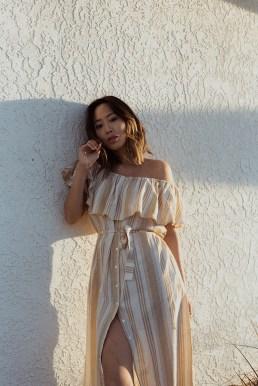 aimee_Song_of_style_joshua_tree_tan_striped_faithfull_dress