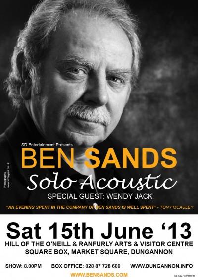 Wendy is special guest of Ben Sands – Sat 15th June