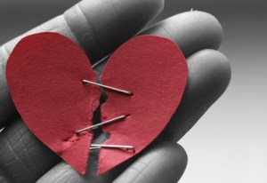 broken heart with staples