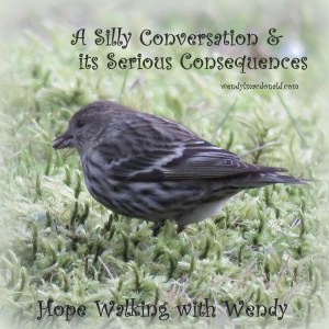 A Silly Conversation & its Serious Consequences wendylmacdonald.com