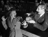 Bela Lugosi and Majorie Neaver at the Hurricane Club in New York, 1940