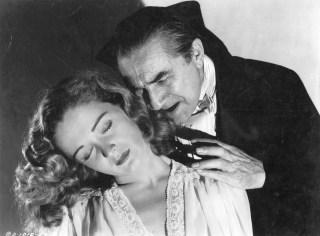 "Bela Lugosi (as Armand Tesla) and Nina Foch (as Nikki Saunders) in ""The Return of the Vampire"" (1944)"