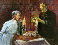 Basil Gogos - Pretorius and the Frankenstein Monster