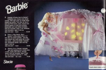 """(A) """"Dreamy 4-Poster Bed for Barbie"""" ~ Not surprisingly, I really, really liked Barbies as a kid! Heck, I'm not immune to buying a pretty one even now!"""