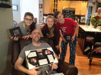 Ben and the kids each with their special gift