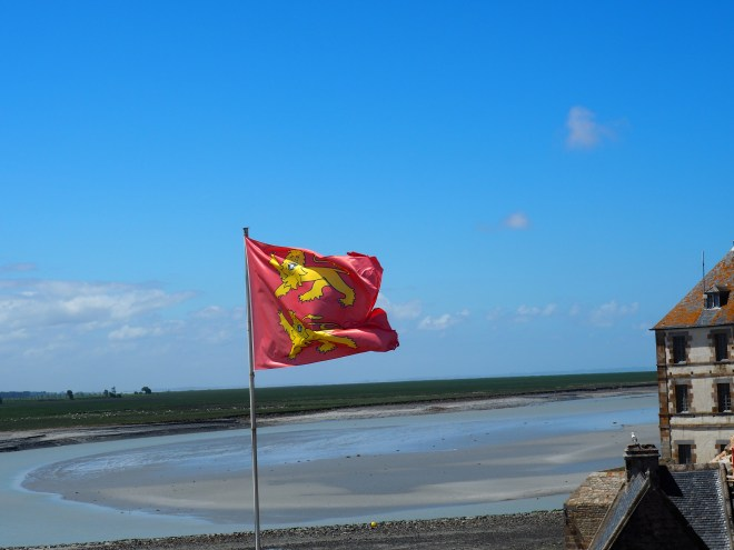 Norman flag at Mont St. Michel