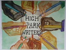 """High Park Writers"". 9x12. July 2016."