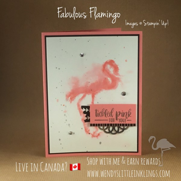 Wendy's Little Inklings: Fabulous Flamingo Flirty Card