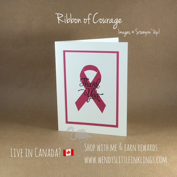 Wendy's Little Inklings: Ribbon of Courage Thank You Card Pack