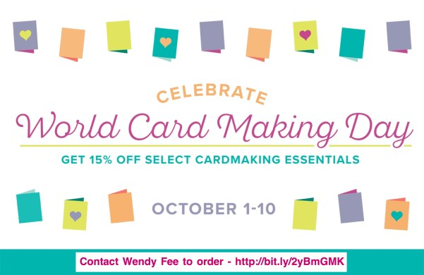 Wendy's Little Inklings Stampin' Up! World Cardmaking Day Promotion