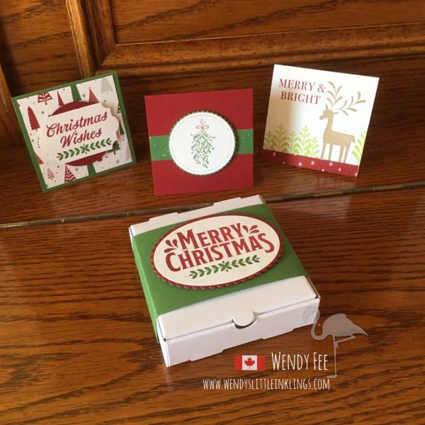 Wendy's Little Inklings: Merry Mistletoe Pizza Box