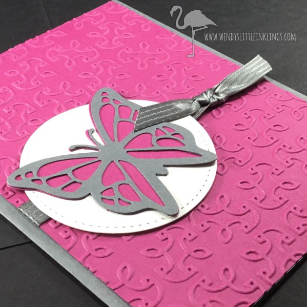 Wendy's Little Inklings: Easy butterfly card made with Move Me Thinlits