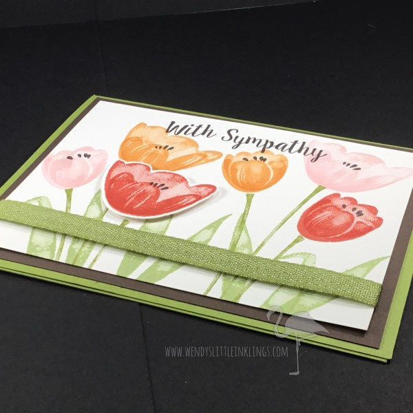 Wendy's Little Inklings: Tranquil Tulips Sympathy Card