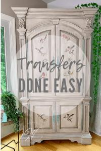 Applying Transfers to Furniture
