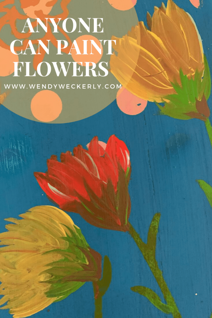 hand painting flowers
